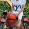 camiseta oc blanca chico moto